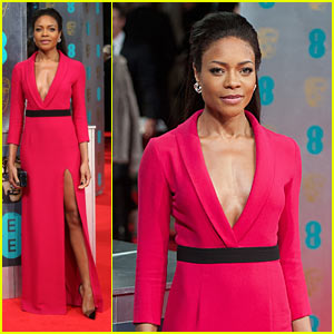 naomie-harris baftas-2014-red-carpet